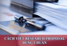 Viết research proposal đúng chuẩn với 7 bước